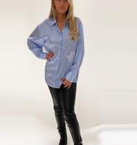 DMN Paris DMN Paris Chloe gestreepte zijde blouse blauw
