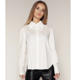 Luscious The Label Luscious The Label Cherry blouse met strass wit