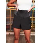 Lavish Alice Lavish Alice Corset waist satin shorts black
