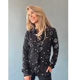 Est'seven Est'seven Paisley star print blouse with black bow