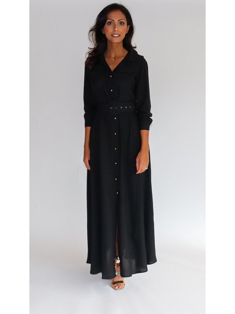 Est'seven Est'Seven Long dress zwart