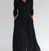 Est'seven Est'Seven Long dress black