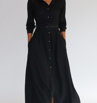 Est'seven Est'Seven Long dress zwart