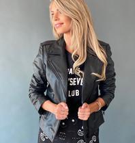 Est'seven Est'Seven Moter leather jacket black