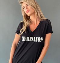 Est'seven Est'seven Rebellion T-shirt zwart