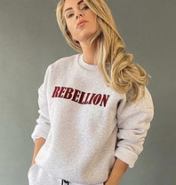 Est'seven Est'seven Rebellion sweater grijs