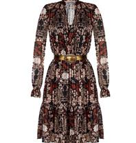 Rinascimento Rinascimento jurk met bloemenprint zwart