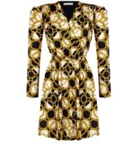 Rinascimento Rinascimento Kleid mit schwarzem Aufdruck