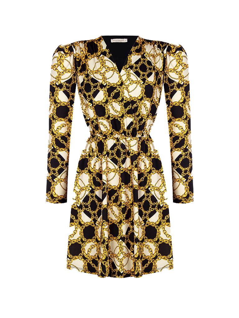 Rinascimento Rinascimento dress with black print