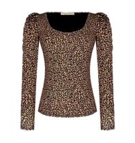 Rinascimento Rinascimento top with leopard print