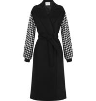 Rinascimento Rinascimento coat with pied de poule and black belt