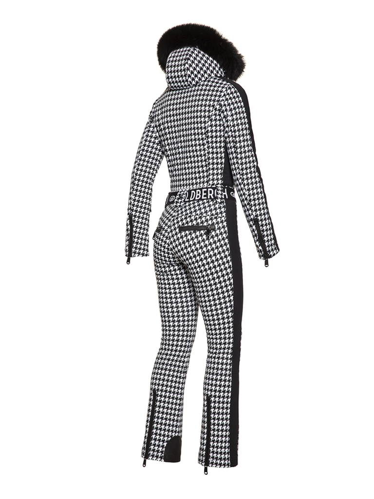 Goldbergh Goldbergh France jumpsuit pied de poule print black and white