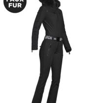 Goldbergh Goldbergh Empress jumpsuit met faux fur zwart