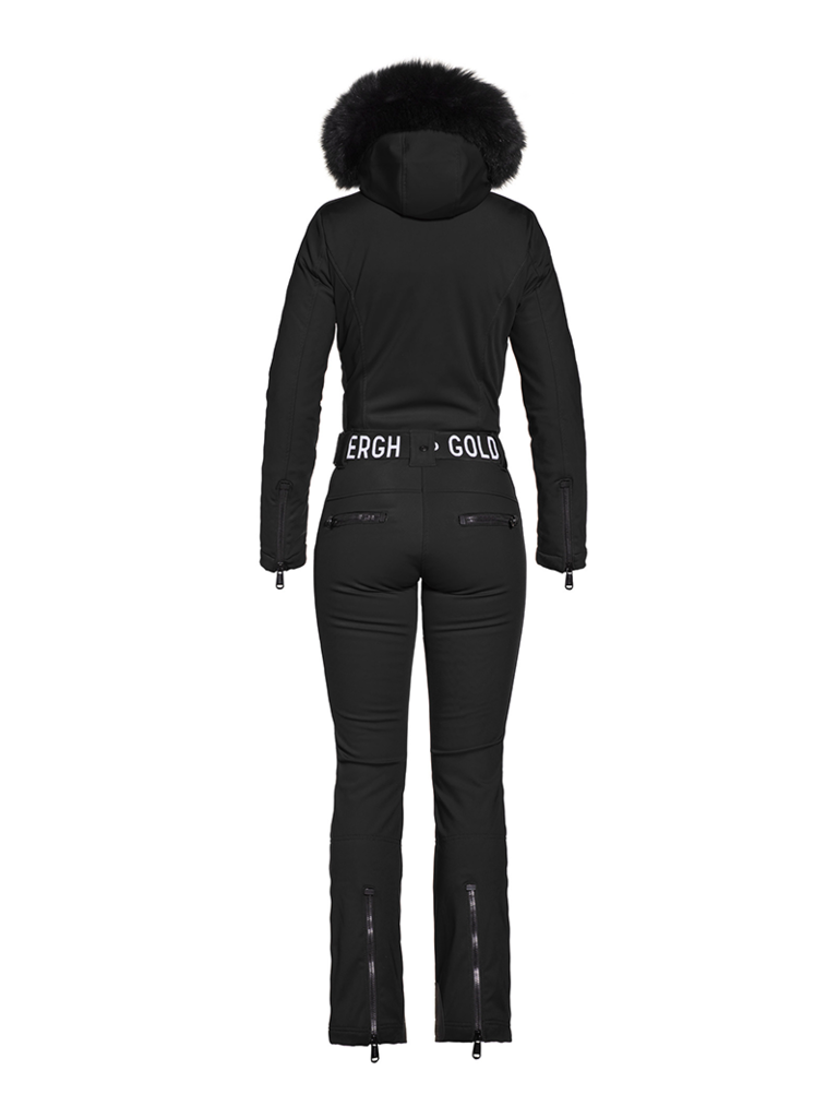 Goldbergh Goldbergh Empress jumpsuit with faux fur black