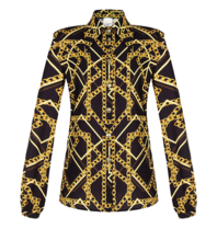 Rinascimento Rinascimento Gold Era blouse with black print