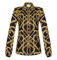 Rinascimento Rinascimento Gold Era Bluse mit schwarzem Aufdruck