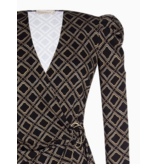 Rinascimento Rinascimento wrap dress with black print
