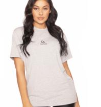 la sisters LA Sisters basic mini logo  t-shirt grijs