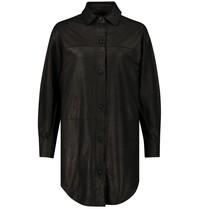 Est'seven Est'Seven übergroßes Blusenkleid schwarz