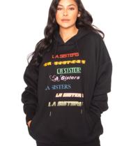 la sisters LA Sisters colourfull hoodie black