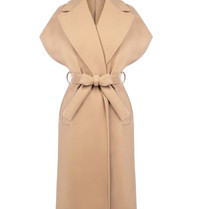 Rinascimento Rinascimento sleeveless cardigan with camel belt