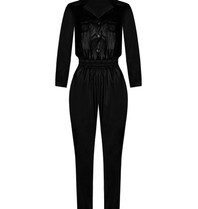 Rinascimento Rinascimento faux leather jumpsuit zwart