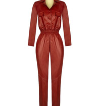 Rinascimento Rinascimento faux leather jumpsuit red