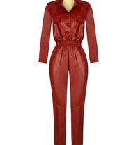 Rinascimento Rinascimento faux leather jumpsuit rood