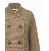 Rinascimento Rinascimento knitted cardigan with buttons in camel