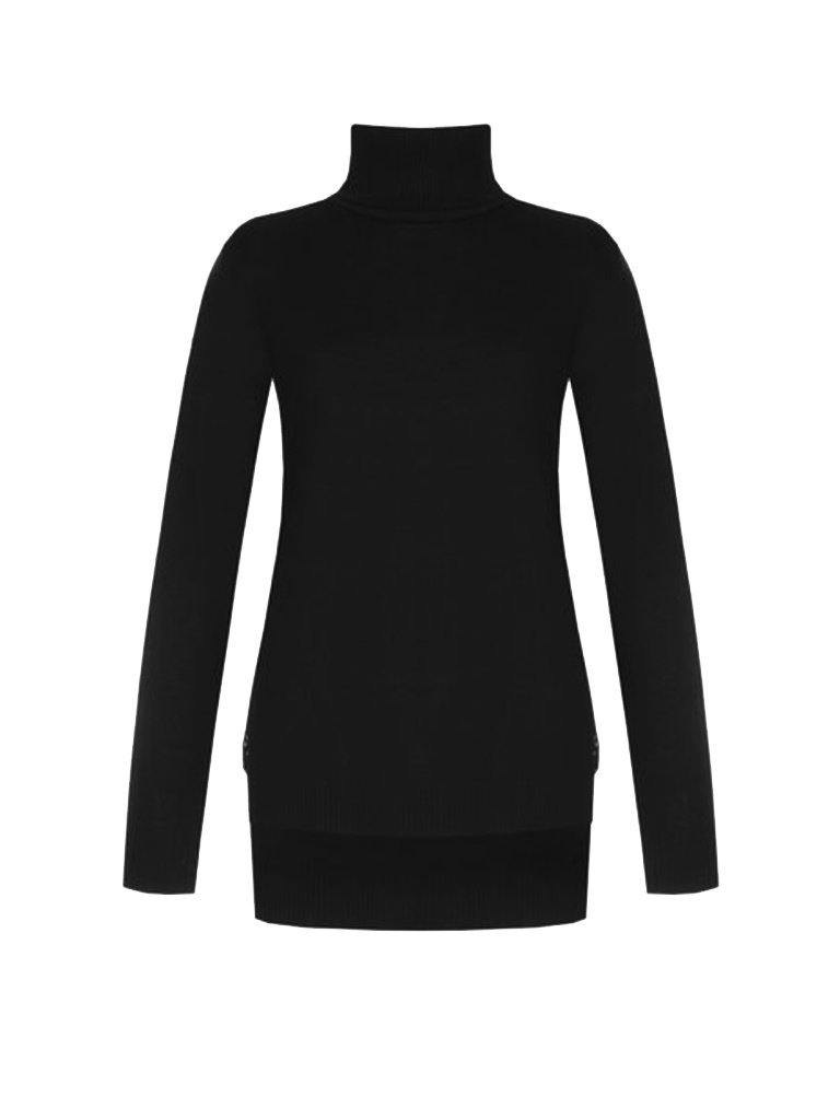 Rinascimento Rinascimento turtleneck sweater with lace detail in black