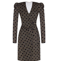 Rinascimento Rinascimento wrap dress with black print