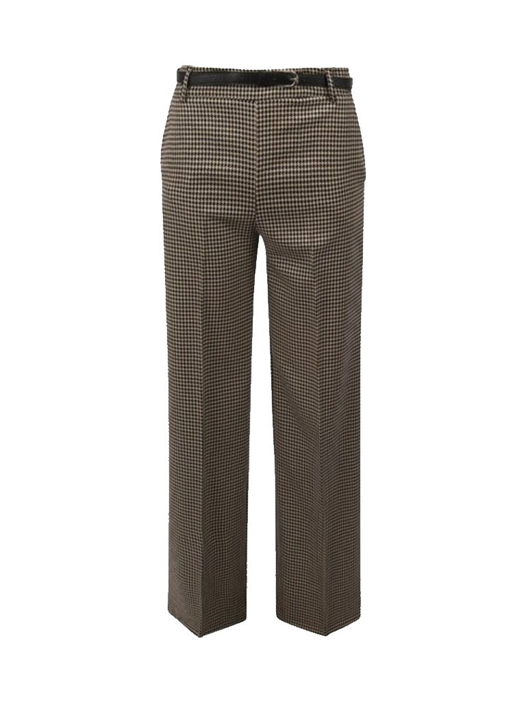 Rinascimento Rinascimento trousers with pied-a-poule print and multicolor belt