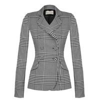 Rinascimento Rinascimento short blazer with buttons and pied-a-poule print multicolor