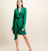 DMN Paris DMN Paris Paule silk dress green