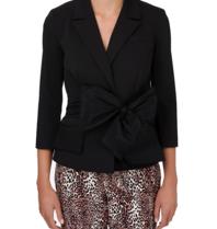 Elisabetta Franchi Elisabetta Franchi blazer met oversized strik zwart