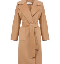 Elisabetta Franchi Elisabetta Franchi oversized coat with camel belt