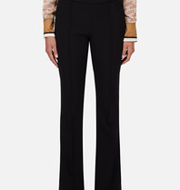 Elisabetta Franchi Elisabetta Franchi flared trousers with logo black