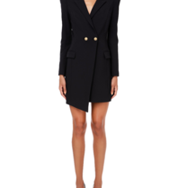 Elisabetta Franchi Elisabetta Franchi blazer dress with gold colored buttons in black