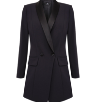 Elisabetta Franchi Elisabetta Franchi blazer dress with satin lapel black