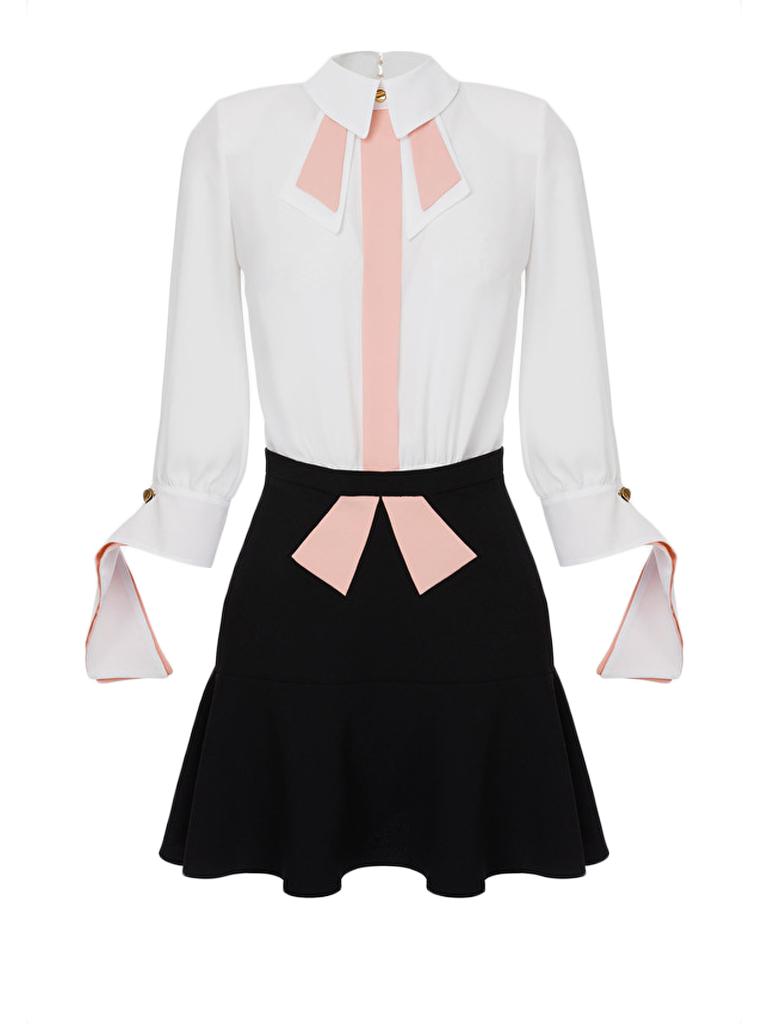 Elisabetta Franchi Elisabetta Franchi two-piece dress with white black details