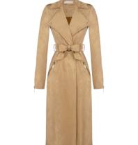 Rinascimento Rinascimento faux suede trench coat with camel belt