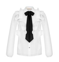 Rinascimento Rinascimento Bluse mit Rüschen und weißer Schleife