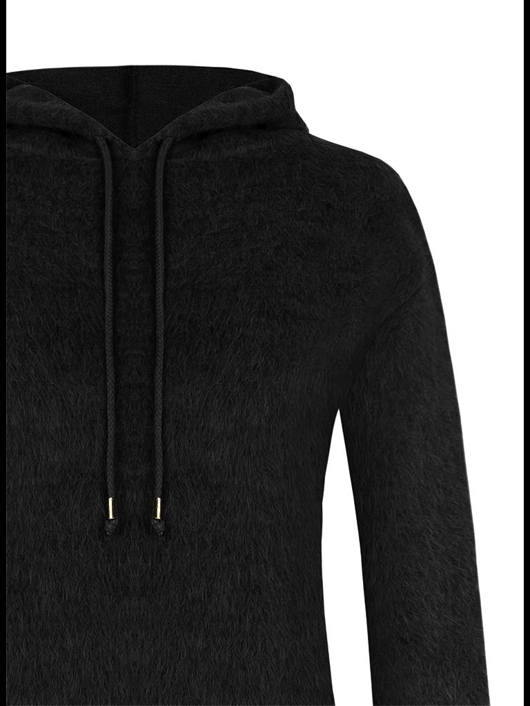 Rinascimento Rinascimento faux fur midi dress with black hood
