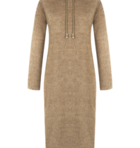 Rinascimento Rinascimento faux fur midi dress with beige hood