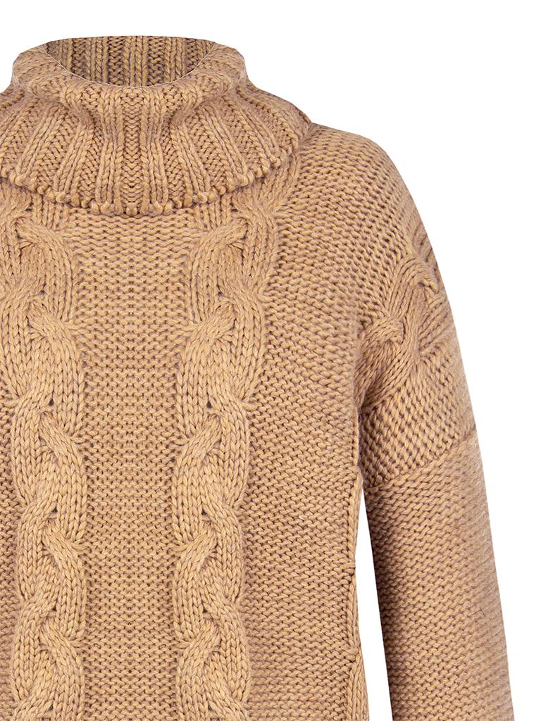Rinascimento Rinascimento knitted sweater with turtleneck camel