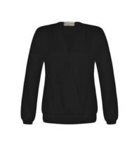 Rinascimento Rinascimento crossover sweatshirt zwart