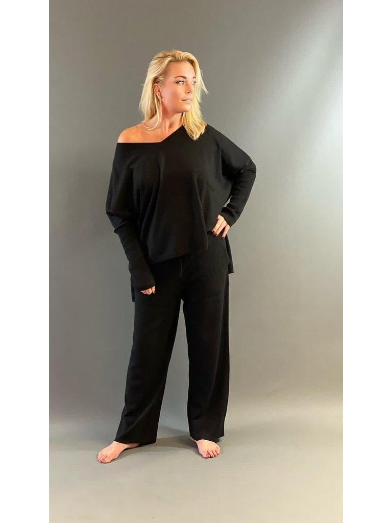 Est'seven Est'Seven Ayden cashmere jogger black