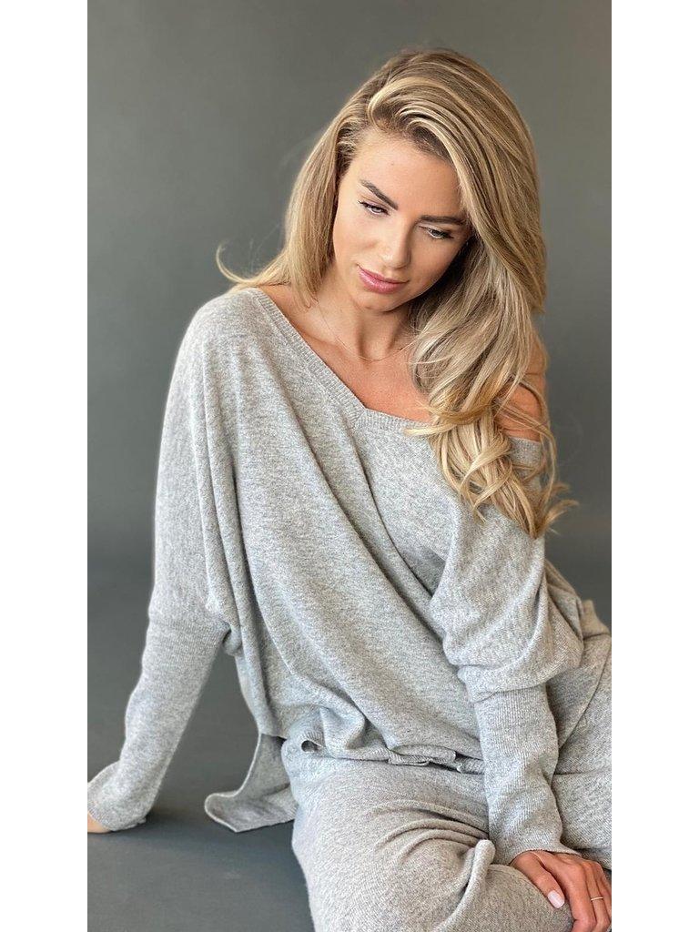 Est'seven Est'Seven Ayden cashmere jogger gray