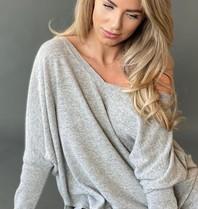Est'seven Est'Seven Ayden cashmere sweater grijs