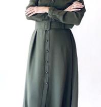 Est'seven Est'Seven Rio Basic maxi dress groen